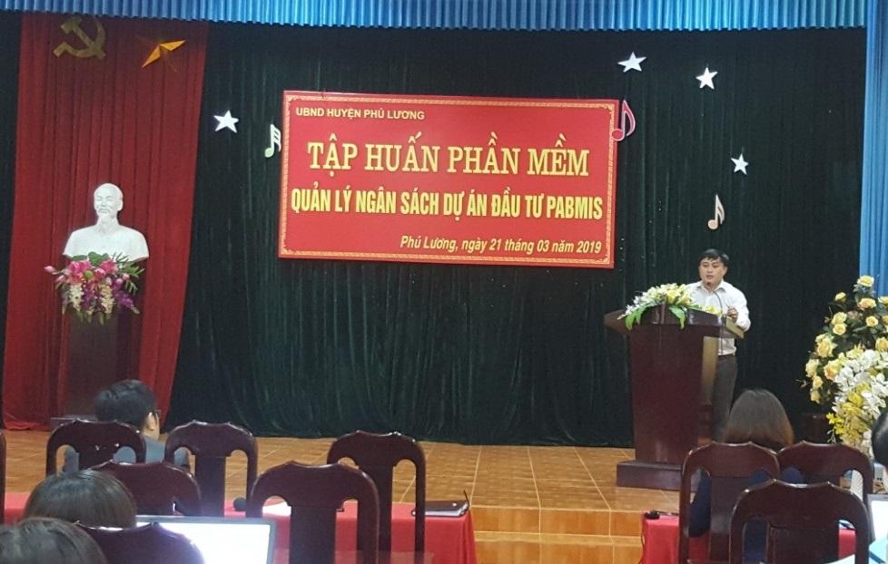Triển khai phần mềm QLNS dự án đầu tư PABMIS tại Huyện Phú Lương, tỉnh Thái Nguyên